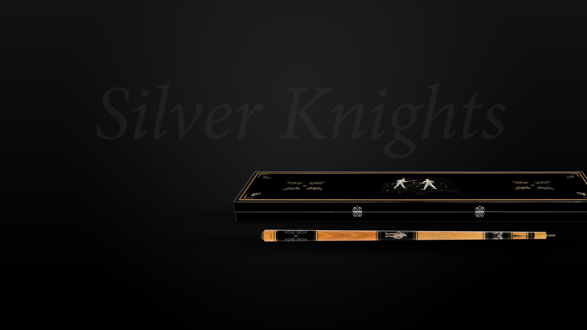Silver Knights box and the cue